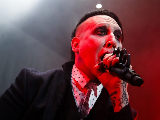 Marilyn Manson opens for Slipknot at Wells Fargo Arena