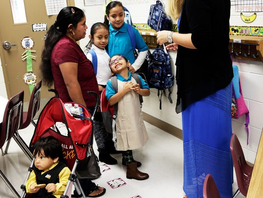 NDN 0815 first day of school  --Lede image on 1A