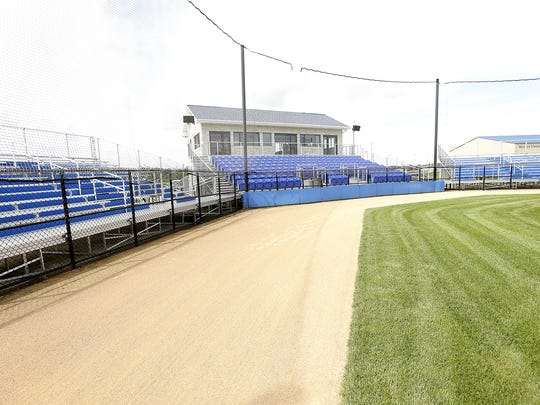 The press box and seating at Herr Baker Field on the Mariam University grounds. Doug Raflik/USA TODAY NETWORK
