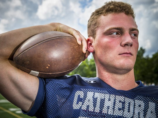Pete Werner, LB, Cathedral.  Portrait taken on Aug. 11, 2016.