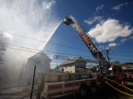 A fire damaged a Jacobson Street home in Sayreville on Monday.