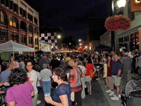 Thousands crowded onto State Street during the LUMA