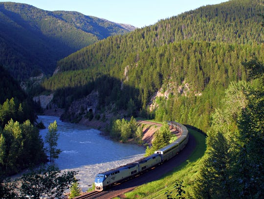 Amtrak's Empire Builder makes its way along the southern