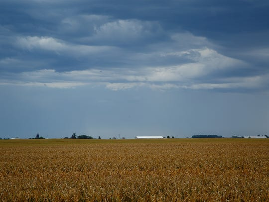 Storm clouds roll over Latimer on Thursday, Sept. 22,
