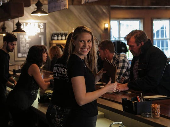 The  busy tasting room at Blake's in Armada