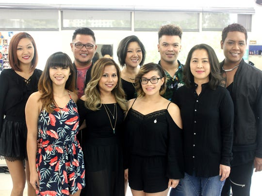 The team at Oceans Salon in Tumon.