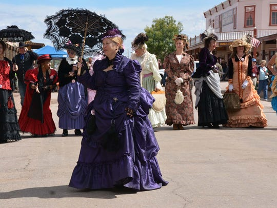 An 1880's fashion show is part of Helldorado Days in
