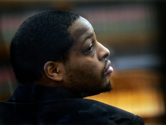 Carl Barrett Jr. is seen in court during his trial