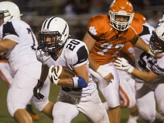 West York's Nick Spadafora runs the ball during last