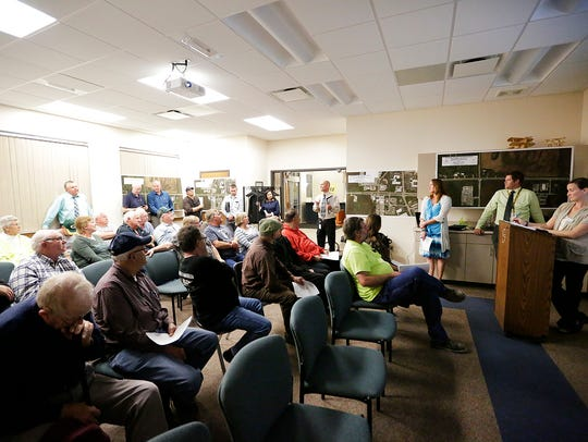 Residents flocked to a meeting with the Wisconsin Department