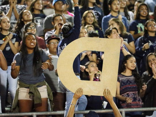 Del Valle students watch their team in action against Eastlake at the Socorro Activities Complex.