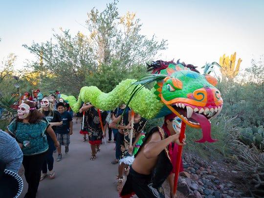 During Dia de Los Muertos celebrations, participants