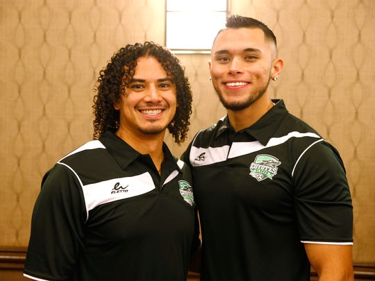 "Gerardo ""Tito"" Moreira, left, and Adrian Hernandez,"