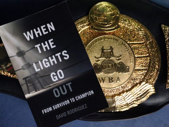 """Retired El Paso boxer David Rodriguez chronicles his life in a new book titled, """"When The Lights Go Out."""""""