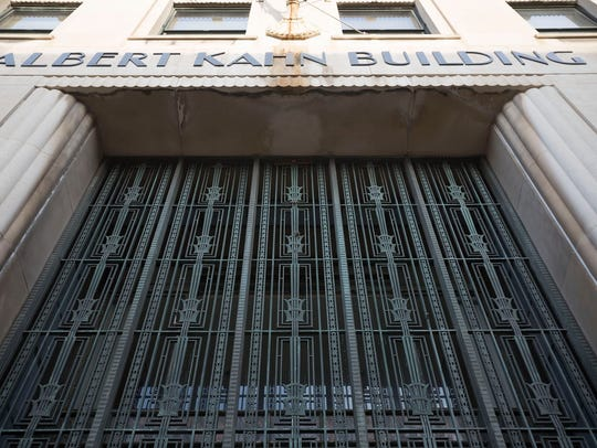The front entrance to the Albert Kahn Building located