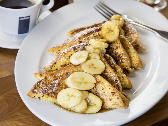 The coconut & almond encrusted French Toast at Hash Kitchen.