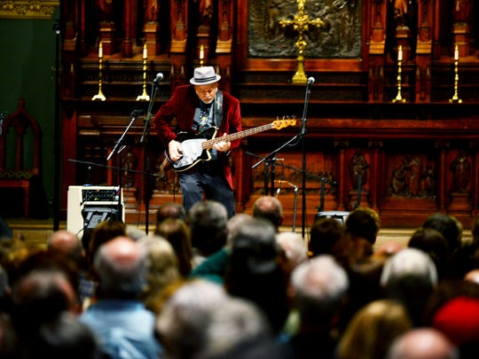 """Dave Pomeroy performs at the 2015 """"Nashville Unlimited Christmas"""" show at Christ Church Cathedral."""