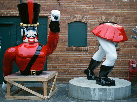 A nutcracker figure saved from downtown Cleveland is