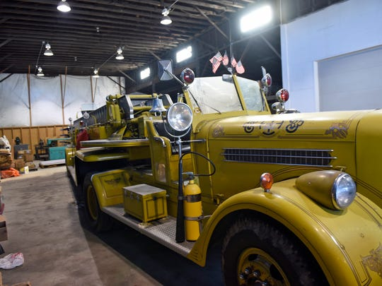 Auctioneer Clayton Armstrong, 610 Fifth Avenue, Chambersburg, is preparing to auction items, including a 1940 Pirsch ladder truck, pictured,  from the estate of Richard (Dick) Bowman.