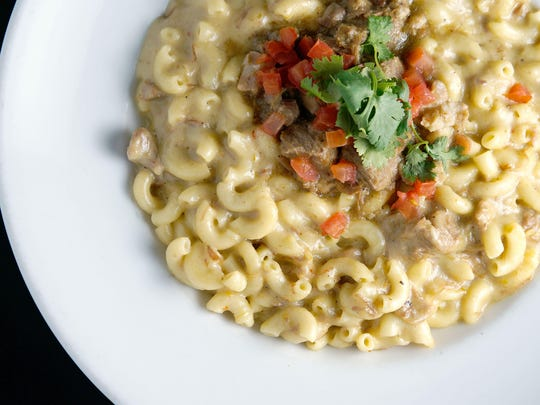 Ticoz: The pork chile verde mac n cheese at Ticoz Latin
