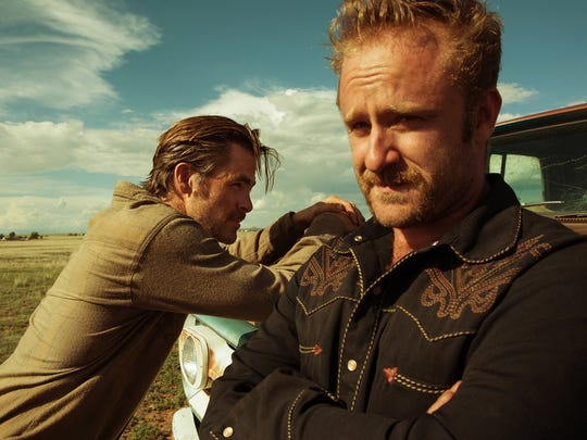 """Chris Pine (left) and Ben Foster star in """"Hell or High Water."""""""
