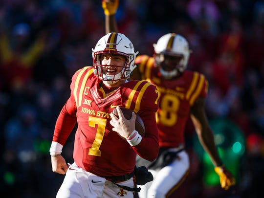 Iowa State coach Matt Campbell is looking for ways to use quarterback Joel Lanning in 2017.