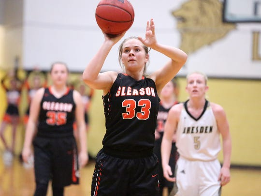 Gleason's Lillian Nichols and the Lady Bulldogs are ranked No. 6 in Class A this week.