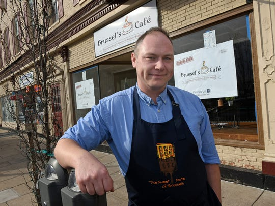 Alex Hemeryckx, seen in front of his restaurant on Thursday, February 2, 2017, will open Brussel's Cafe at 55 North Main Street. Chambersburg. Hemeryckx will be using a 130-year-old family waffle recipe.