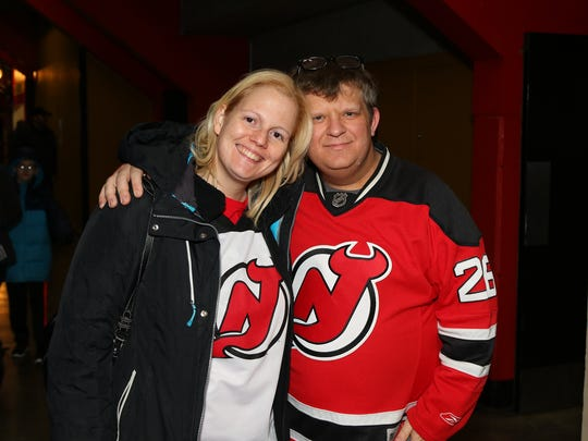 Devils fans Matt Posthumus and Meghann Ryan said they enjoyed Saturday's game between the Albany Devils and the Binghamton Senators at the Floyd L. Maines Veterans Memorial Arena in Binghamton.