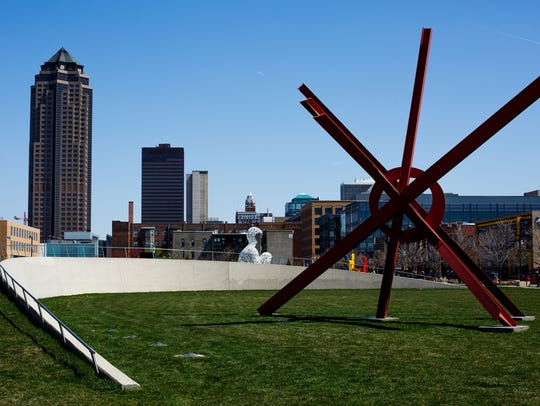 The Pappajohn Sculpture Park in Des Moines.