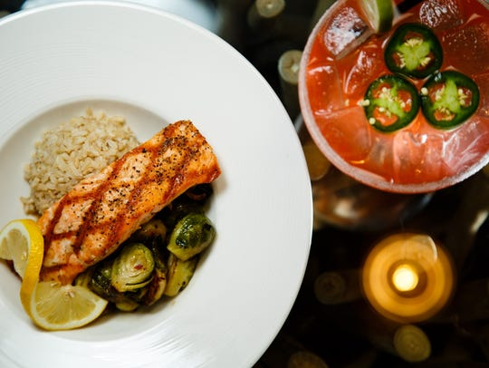 The Salmon with Brussels and Rice paired with the Spicy