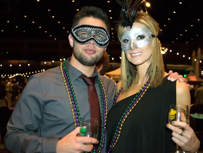 Guests celebrate Fat Tuesday at the Reno Rotary Mardi