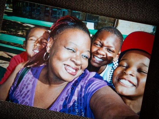Shaherah Smith-Hughes pulled many family photos for