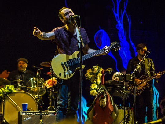 Headliners The Shins play on the main stage at the