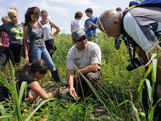 Land lab in Granville, native prairie and wetlands