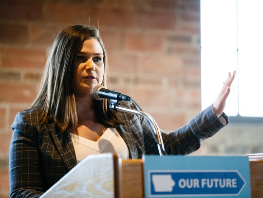 First District congressional candidate Abby Finkenauer