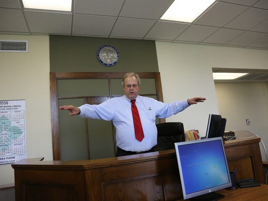 District associate judge Mark Schlenker describes his