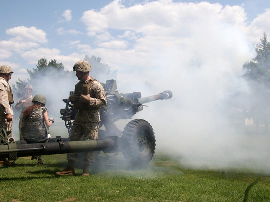 Jason Towlen/Staff photographer An M777A2 Howitzer is fired during Picatinny Arsenal?s Media Day on Monday. An M777A2 Howitzer is fired during the Picatinny Arsenal Media Day, Monday, May 4, 2015, in Wharton, NJ.