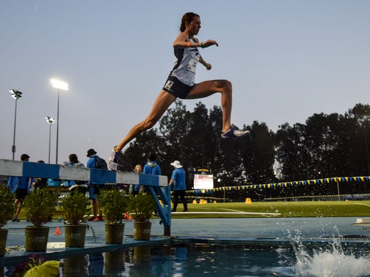 Nevada's Cora Gallop, who began her career at a triple jumper at Southern Oregon, ran one of the nation's fastest times in the 3,000-meter steeplechase in an event at UCLA last week.