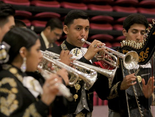 In this 2017 file photo, Mariachi Sol Azteca performs at the 12th annual Hispanic Leadership Banquet. This year's event will be 6 to 9 p.m. April 21. MPEC, 1000 5th St. The speaker will Pete Lerma.