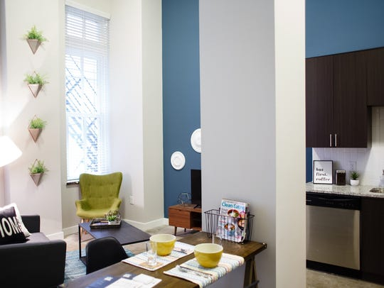 A one bedroom model unit at the R and T lofts on Thursday,