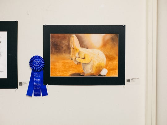 """Erin Hurlbut, of Whitney Point High School, took home the award for Excellence in Use of Media for """"Bunny."""""""