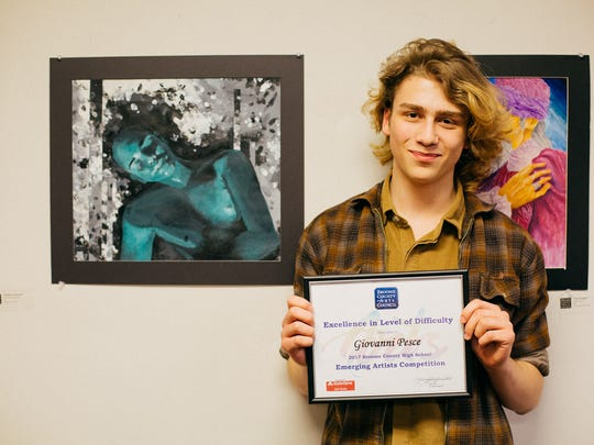 """Giovanni Pesce, of Binghamton High School, took home the award for Excellence in Level of Difficulty for """"Coconut Dream."""""""
