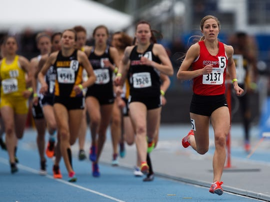 Assumptions Joy Ripslinger runs in the 800 meter during