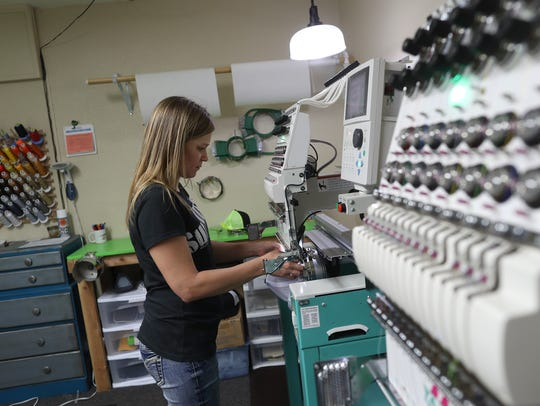 Boundary Waters Screenprinting embroiderer Tami Hale