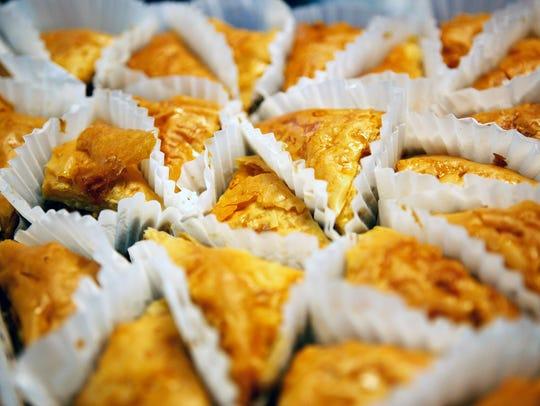Baklava is a popular dessert at the Memphis Greek Festival