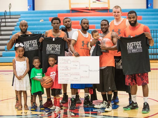 "Family First, a community team from Dover, won the ""Justice for All"" basketball tournament fundraiser on April 29 at Delaware State University."
