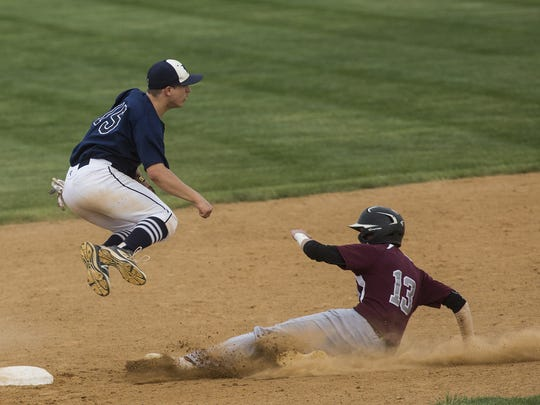 Dallastown's Tye Golden leaps to avoid Gettysburg's