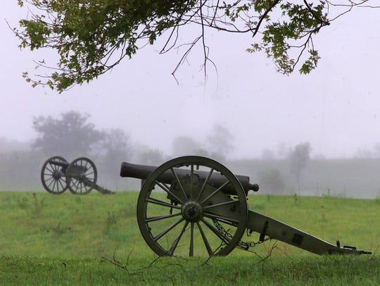 Cannons at the Perryville Battlefield State Park