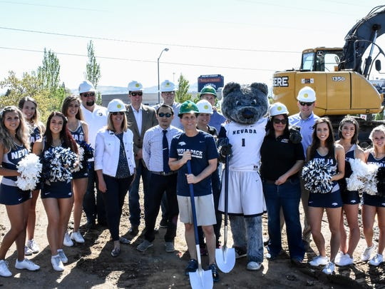 A varied crew attends the May 8, 2017, ground breaking